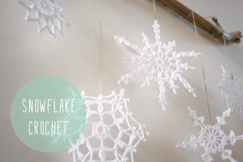 "DIY crochet snowflake, Visto en ""I am a Mess Blog"""