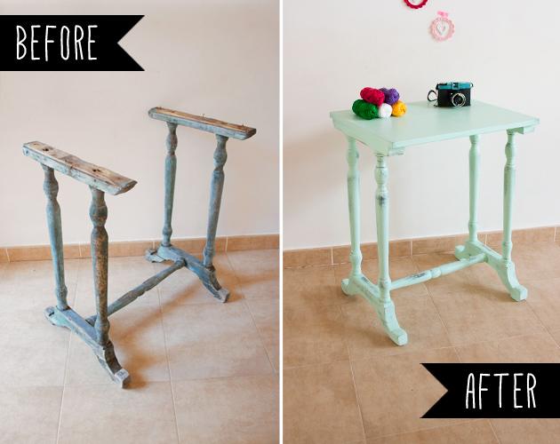 Recuperando unas patas con chalk paint, visto en IamaMess blog