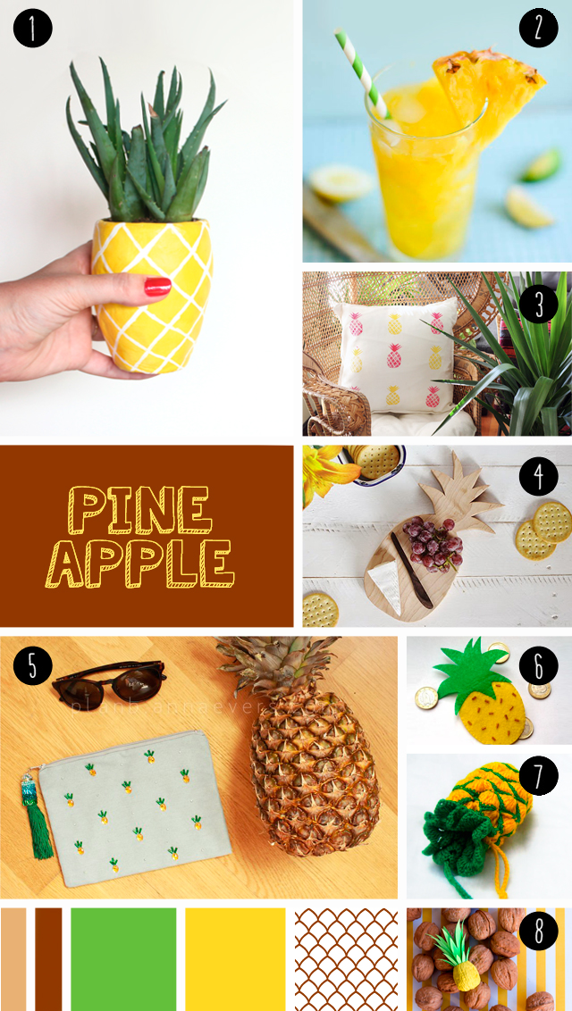 "8 pineapple DIY seen at ""I am a mess"""