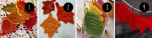 Crochet Leaves free pattern