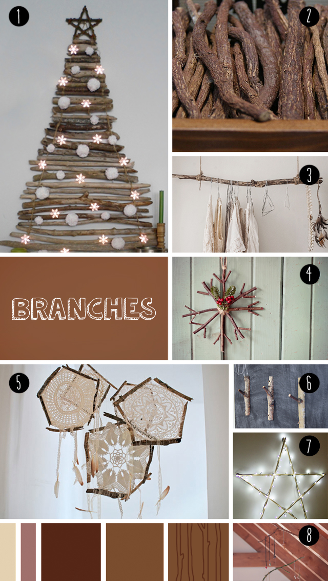 "8 branches DIY seen at ""I am a mess"""
