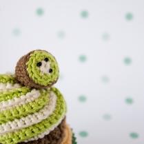 "Kiwi Corchet Cupcake by ""I am a Mess"""